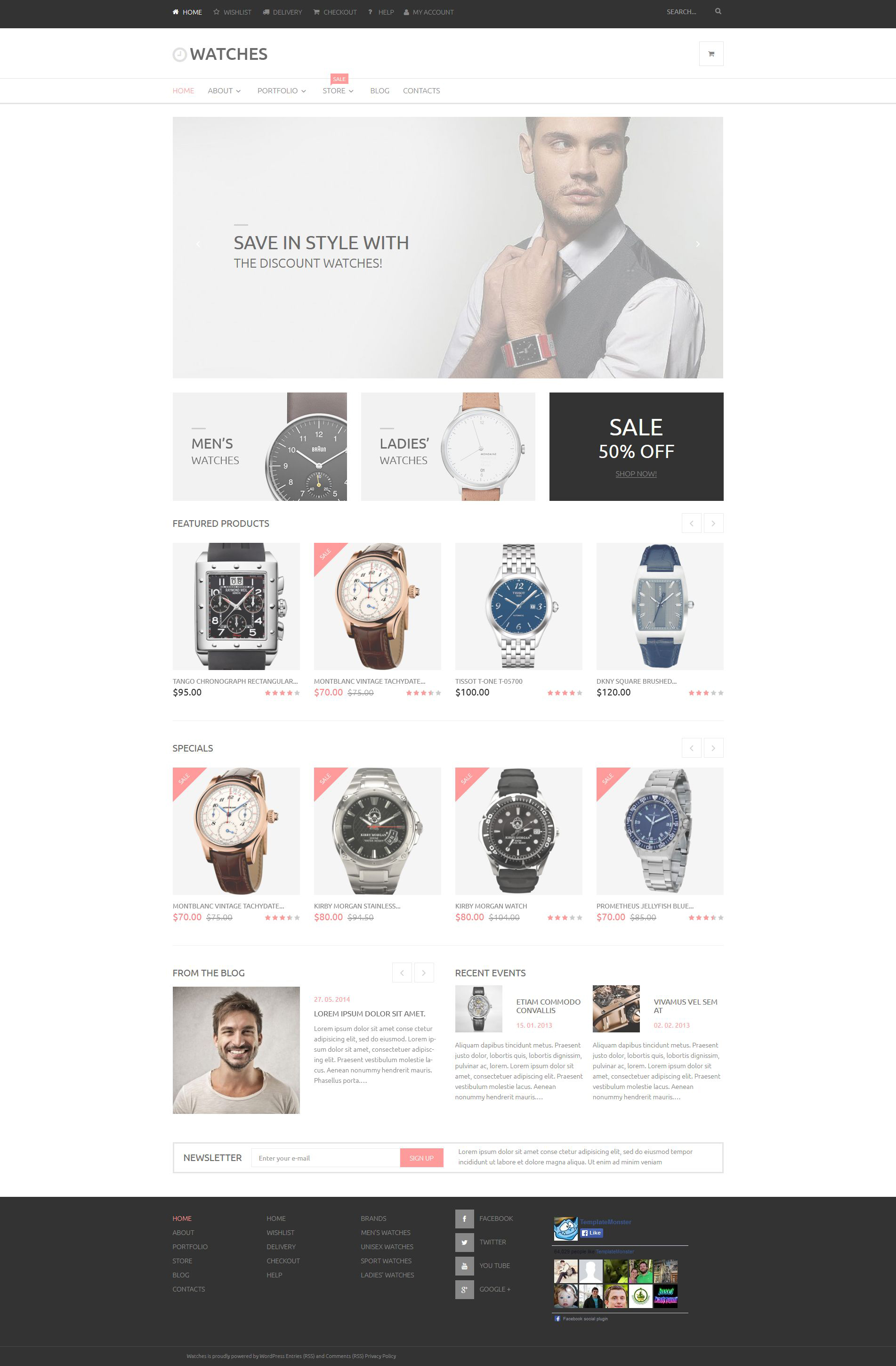 Watches Online Store WooCommerce Theme - screenshot