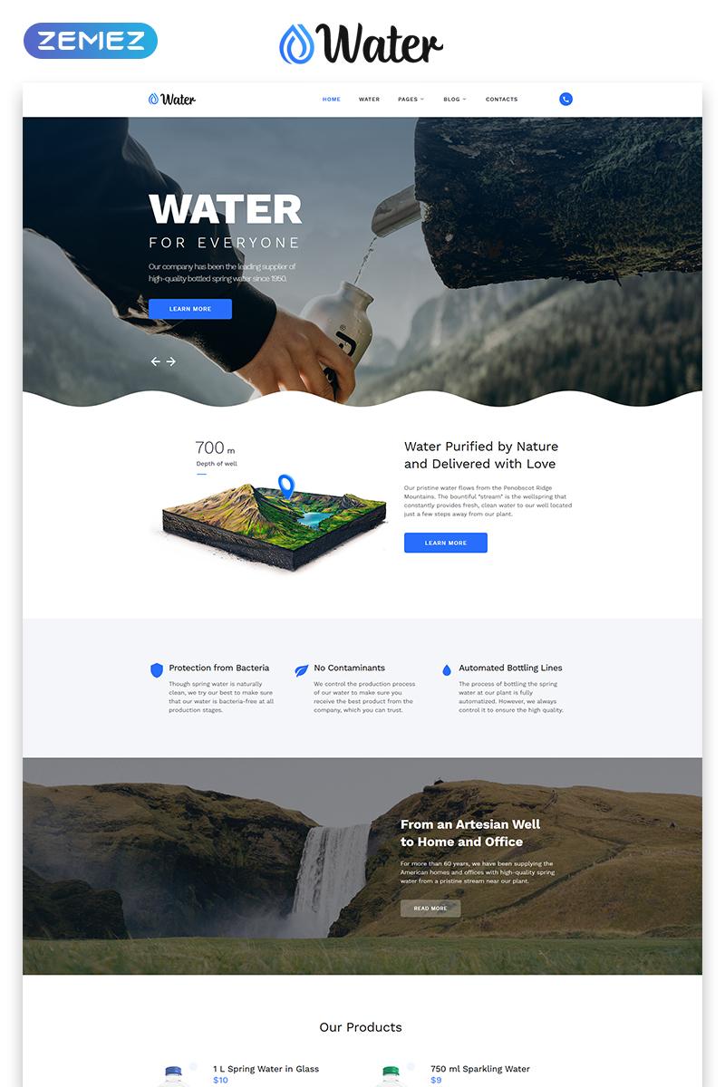 """Website Vorlage namens """"Quellwasser-Firma"""" #53779"""