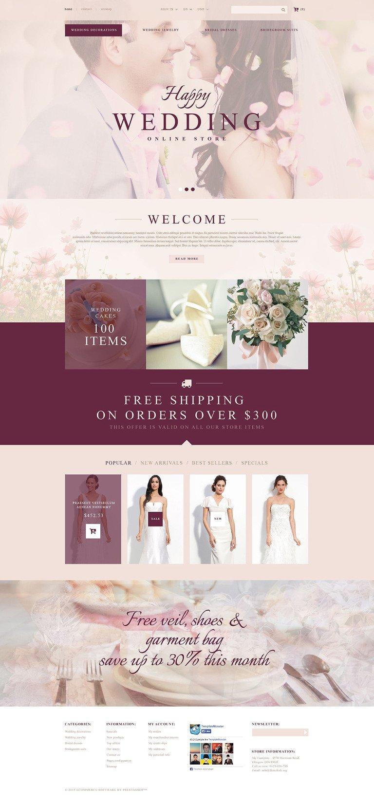 Wedding Store PrestaShop Theme New Screenshots BIG