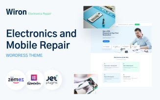 Wiron - Electronics and Mobile Repair Template WordPress Theme