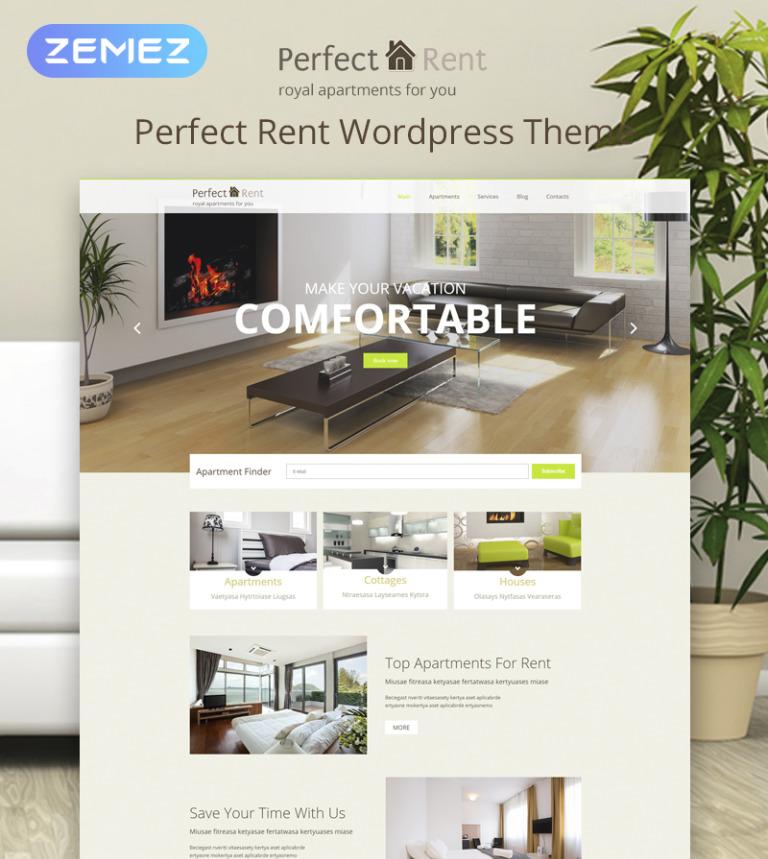 WordPress Theme #53763 für Immobilienagentur