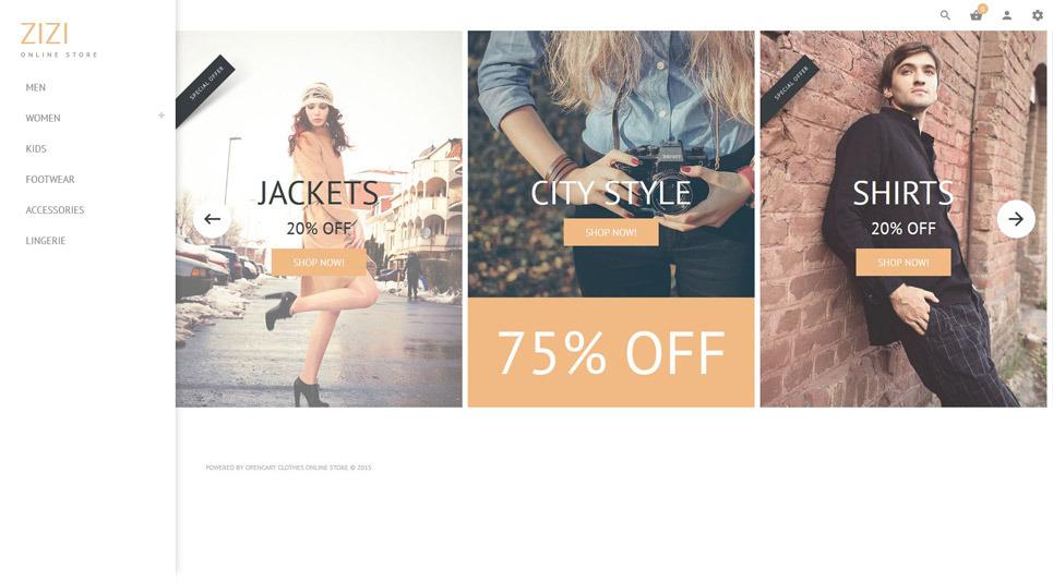 Responzivní OpenCart šablona na téma Prodejna oblečení New Screenshots BIG