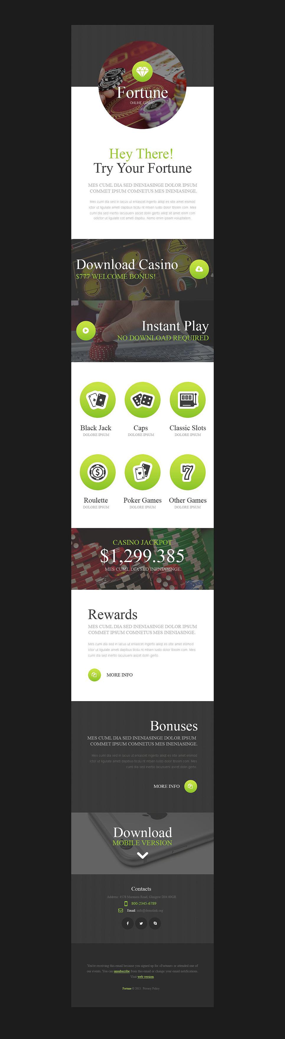 Plantilla Newsletter ideal poker inline, casino, ruletas, apuestas ...