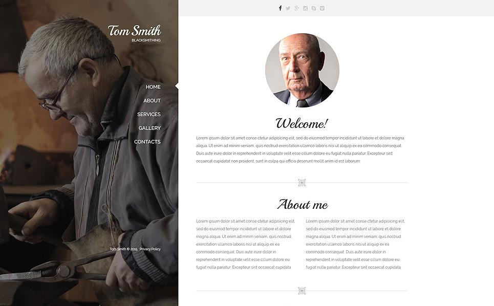 Responzivní Šablona webových stránek na téma Osobní stránky New Screenshots BIG