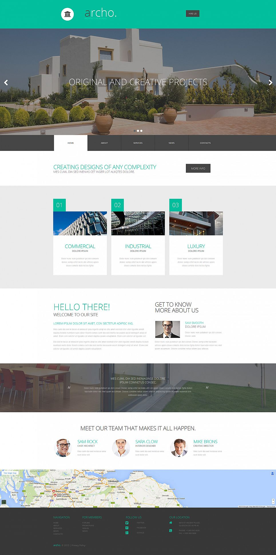 Home Architecture Website Design - image