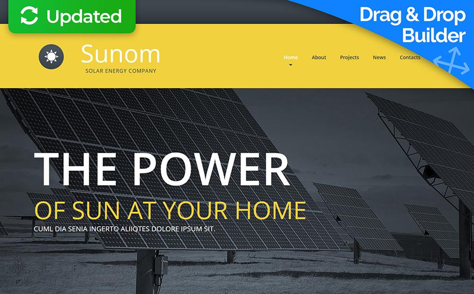 Responsywny szablon Moto CMS 3 #53827 na temat: energia słoneczna New Screenshots BIG