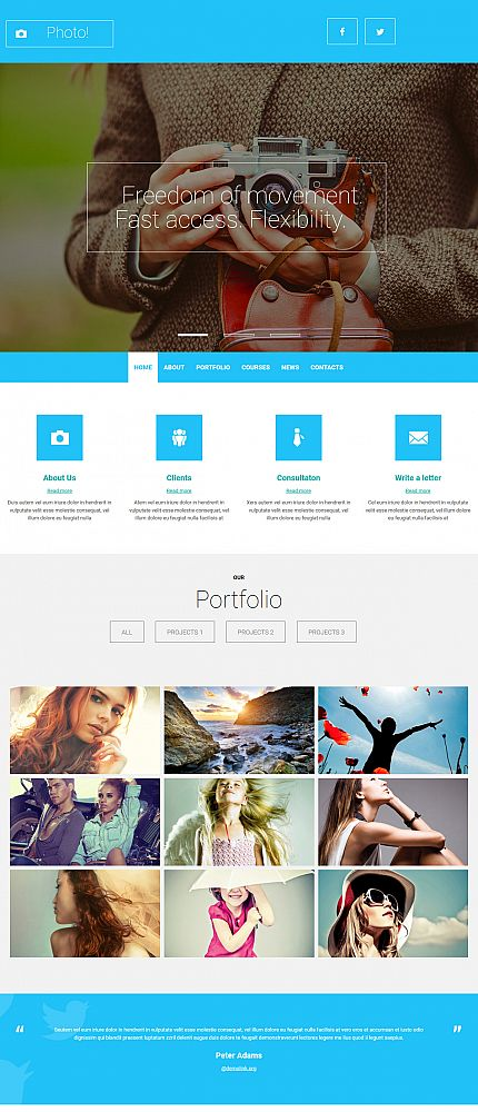 ADOBE Photoshop Template 53831 Home Page Screenshot