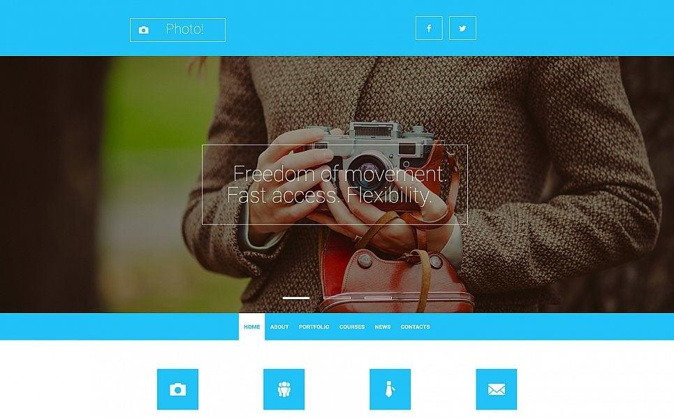 Responsives Moto CMS 3 Template für Fotografen Portfolio  New Screenshots BIG