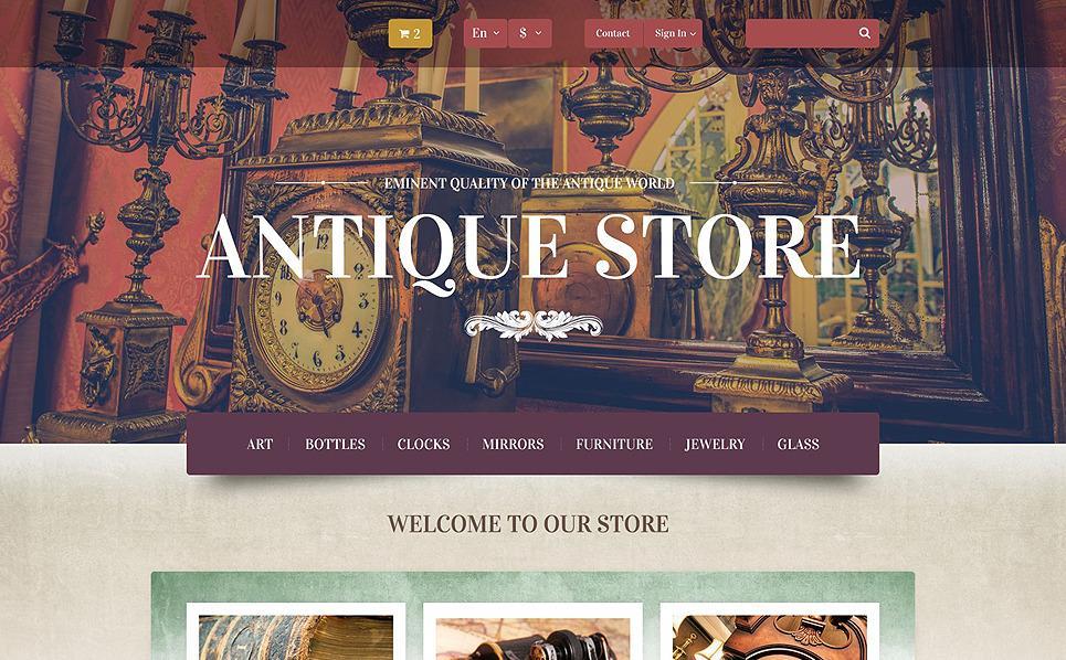 Адаптивний PrestaShop шаблон на тему антикварітний магазин New Screenshots BIG