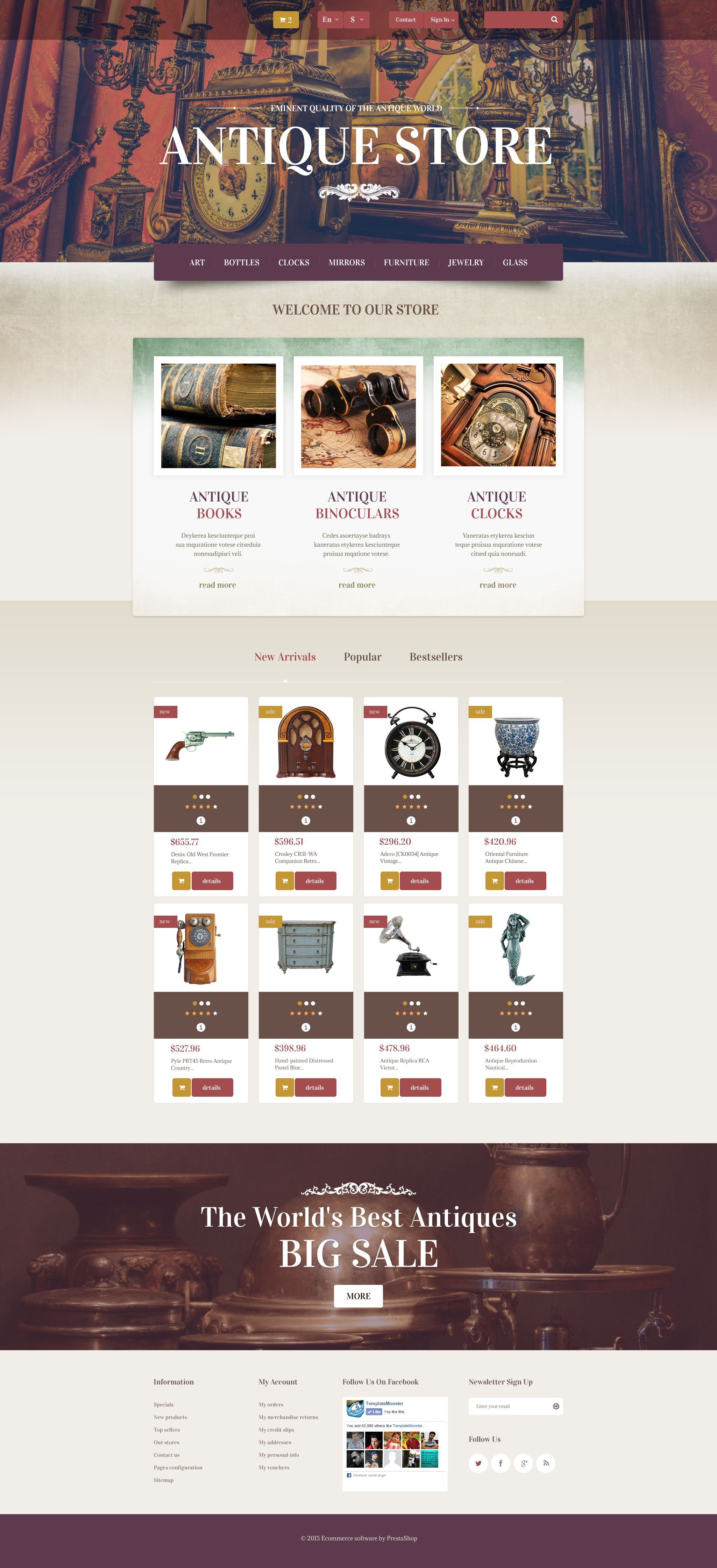 The Antique Store PrestaShop Design 53833, one of the best PrestaShop themes of its kind (most popular, antique), also known as antique store PrestaShop template, antiquarian PrestaShop template, spirit PrestaShop template, products PrestaShop template, furniture PrestaShop template, weapon PrestaShop template, clock PrestaShop template, books PrestaShop template, armor PrestaShop template, statuary PrestaShop template, sculpture PrestaShop template, accessory PrestaShop template, crockery PrestaShop template, maps PrestaShop template, coins PrestaShop template, jewelry PrestaShop template, boxes dealers PrestaShop template, rare PrestaShop template, old PrestaShop template, rarity PrestaShop template, collection and related with antique store, antiquarian, spirit, products, furniture, weapon, clock, books, armor, statuary, sculpture, accessory, crockery, maps, coins, jewelry, boxes dealers, rare, old, rarity, collection, etc.