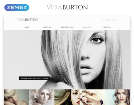 Vera Burton Website Template