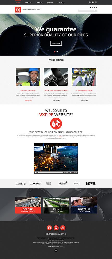 dreamweaver shopping cart templates - vx pipe website template website templates