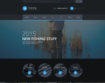 Fishing Equipment Store OpenCart Template