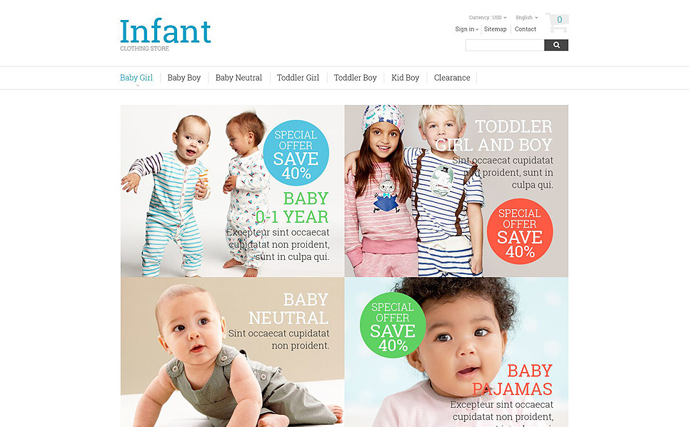 Responzivní PrestaShop motiv na téma Obchod pro děti New Screenshots BIG