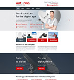 Communications Website  Template 53854