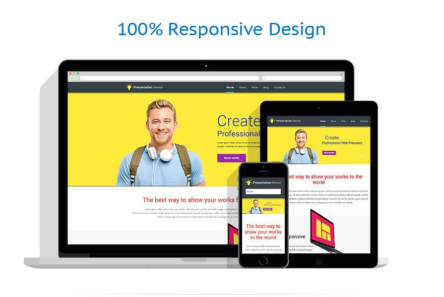 website presentation template