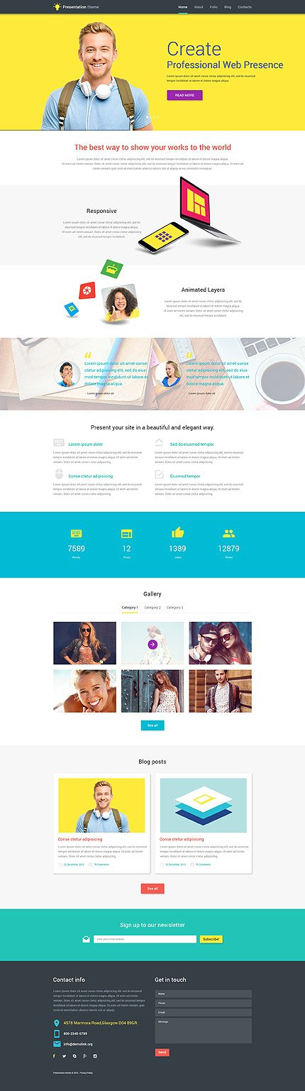 WordPress Theme/Template 53857 Main Page Screenshot