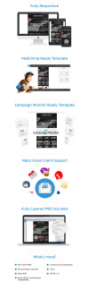 Auto Parts Responsive Newsletter Template #53860
