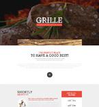 Cafe & Restaurant Website  Template 53861