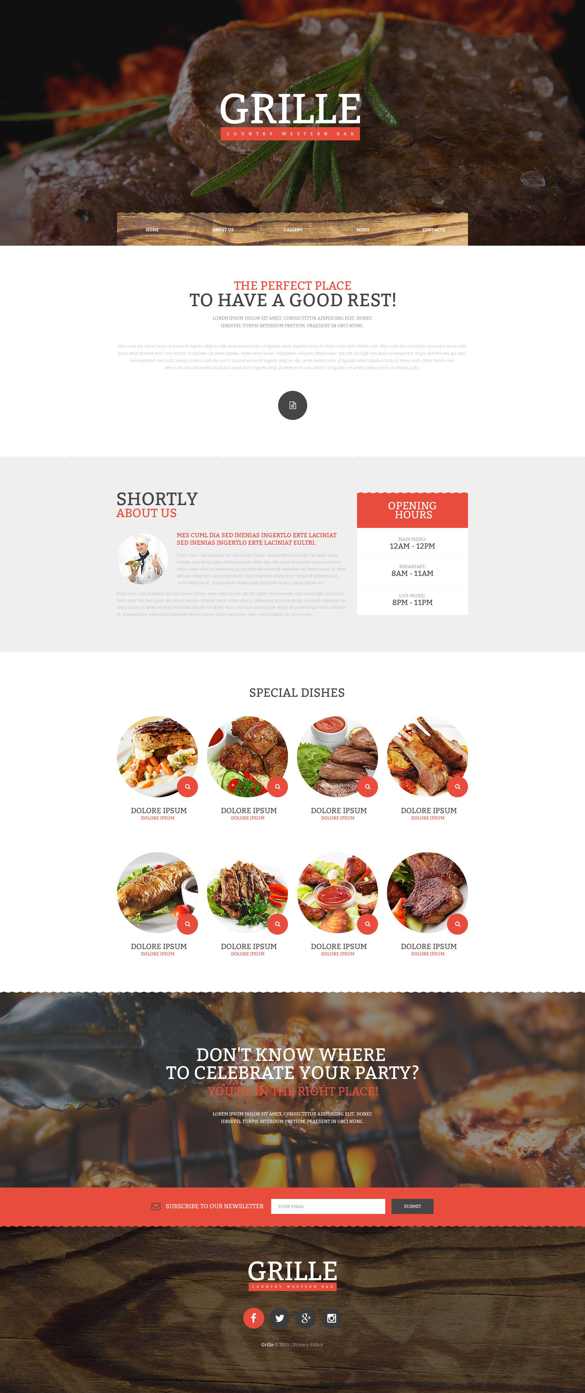 The Grille BBQ House Restaurant Bootstrap Design 53861, one of the best website templates of its kind (cafe and restaurant, most popular), also known as grille BBQ House restaurant website template, meat website template, beef website template, pork website template, chicken website template, roast website template, barbecue website template, grill website template, meal website template, snack website template, food website template, brisket website template, shoulder website template, steak and related with grille BBQ House restaurant, meat, beef, pork, chicken, roast, barbecue, grill, meal, snack, food, brisket, shoulder, steak, etc.