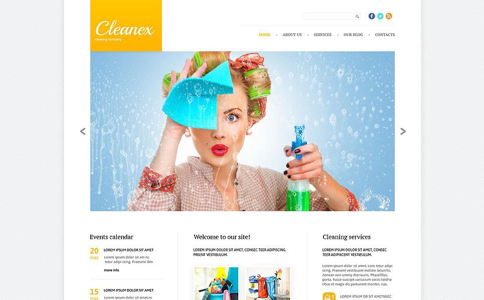 Адаптивний Шаблон сайту на тему прибирання New Screenshots BIG