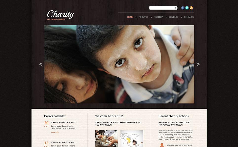 Responsive Website Vorlage für Wohltätigkeit  New Screenshots BIG