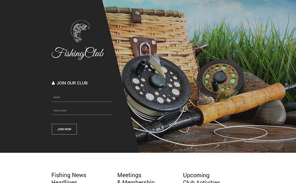 Адаптивний Шаблон цільової сторінки на тему рибалка New Screenshots BIG