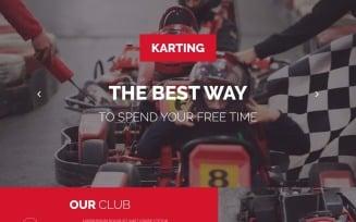 Karting Responsive Landing Page Template