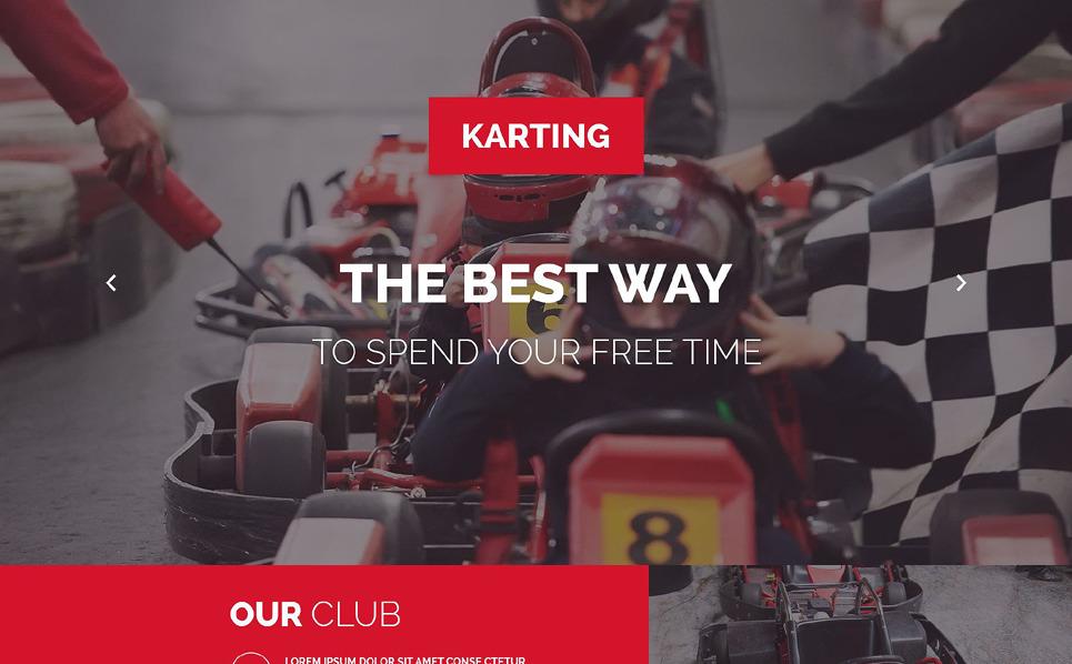 Responsive Karting  Açılış Sayfası Şablonu New Screenshots BIG