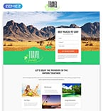 Travel Landing Page  Template 53870