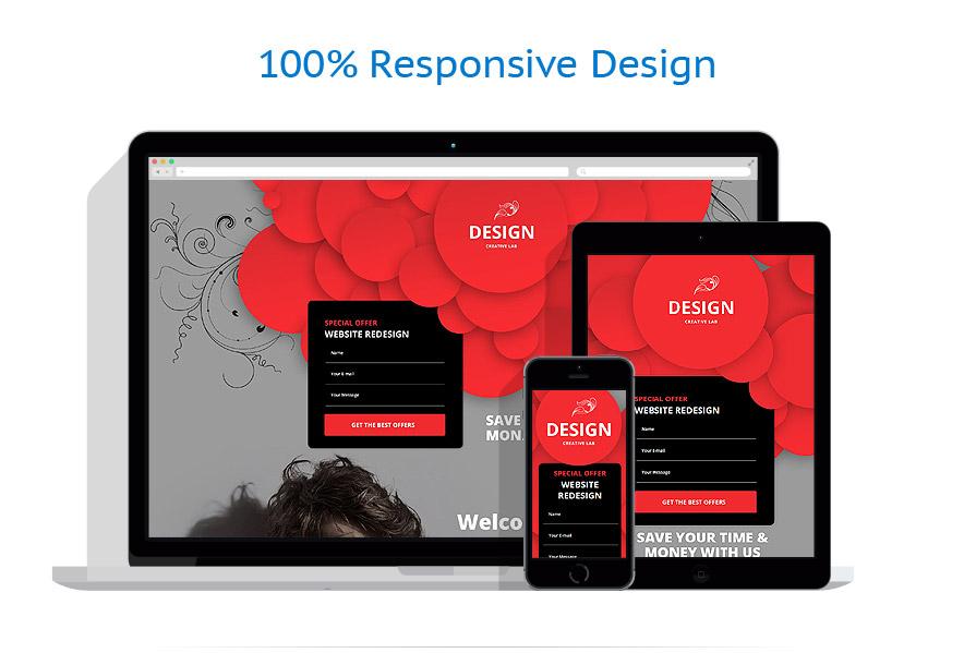 Modèles de Page d'Accueil Web design #53873
