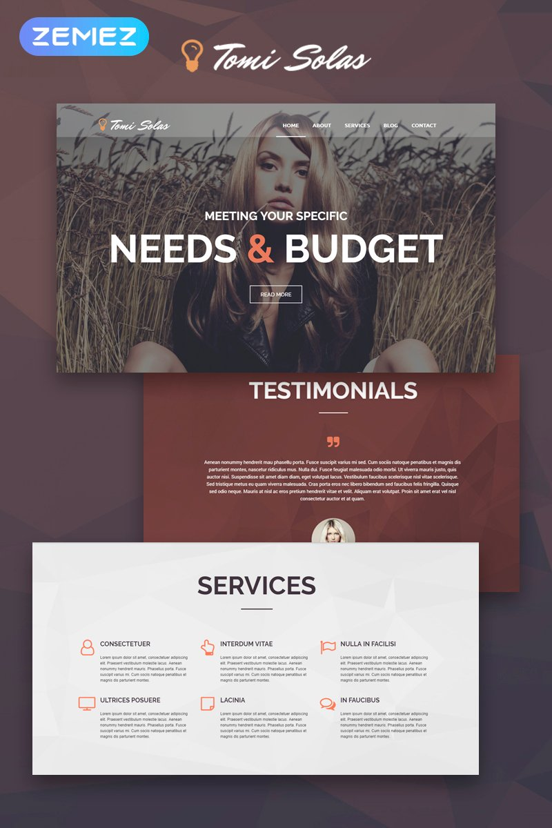 The Tomi Solas Photographer WordPress Design 53878, one of the best WordPress themes of its kind (art & photography, most popular), also known as Tomi Solas photographer WordPress template, portfolio WordPress template, photography WordPress template, photos WordPress template, camera WordPress template, pictures WordPress template, art gallery WordPress template, digital cameras WordPress template, picture company WordPress template, models and related with Tomi Solas photographer, portfolio, photography, photos, camera, pictures, art gallery, digital cameras, picture company, models, etc.