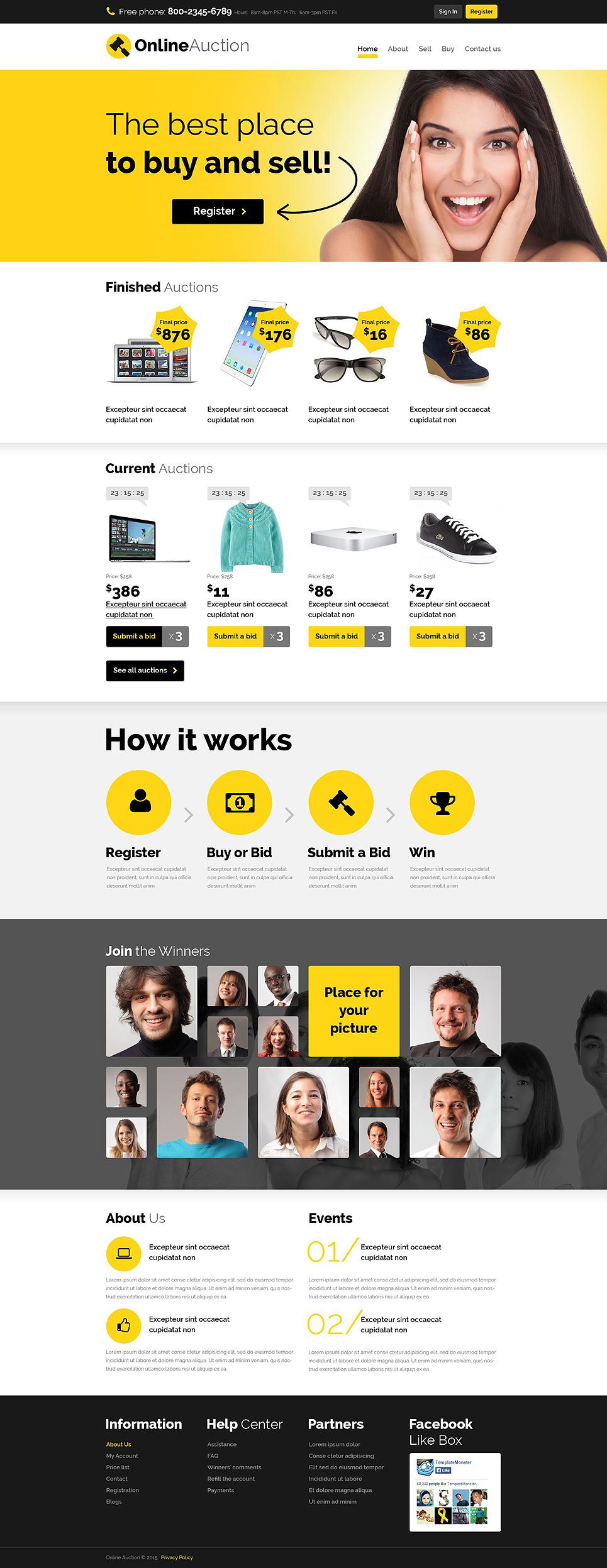 Plantilla para sitios web - Categoría: Más populares - versión para Desktop