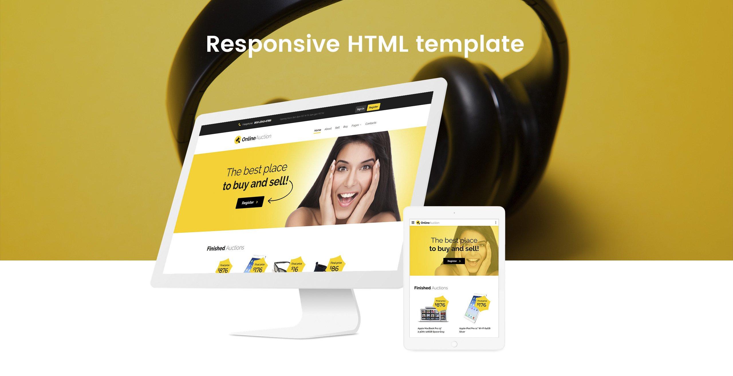 Online Auction Auction Responsive Clean Html Website Template