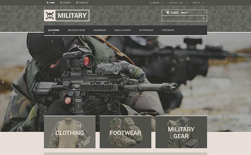 """PrestaShop Theme namens """"Online-Shop von Militärbestände"""" New Screenshots BIG"""