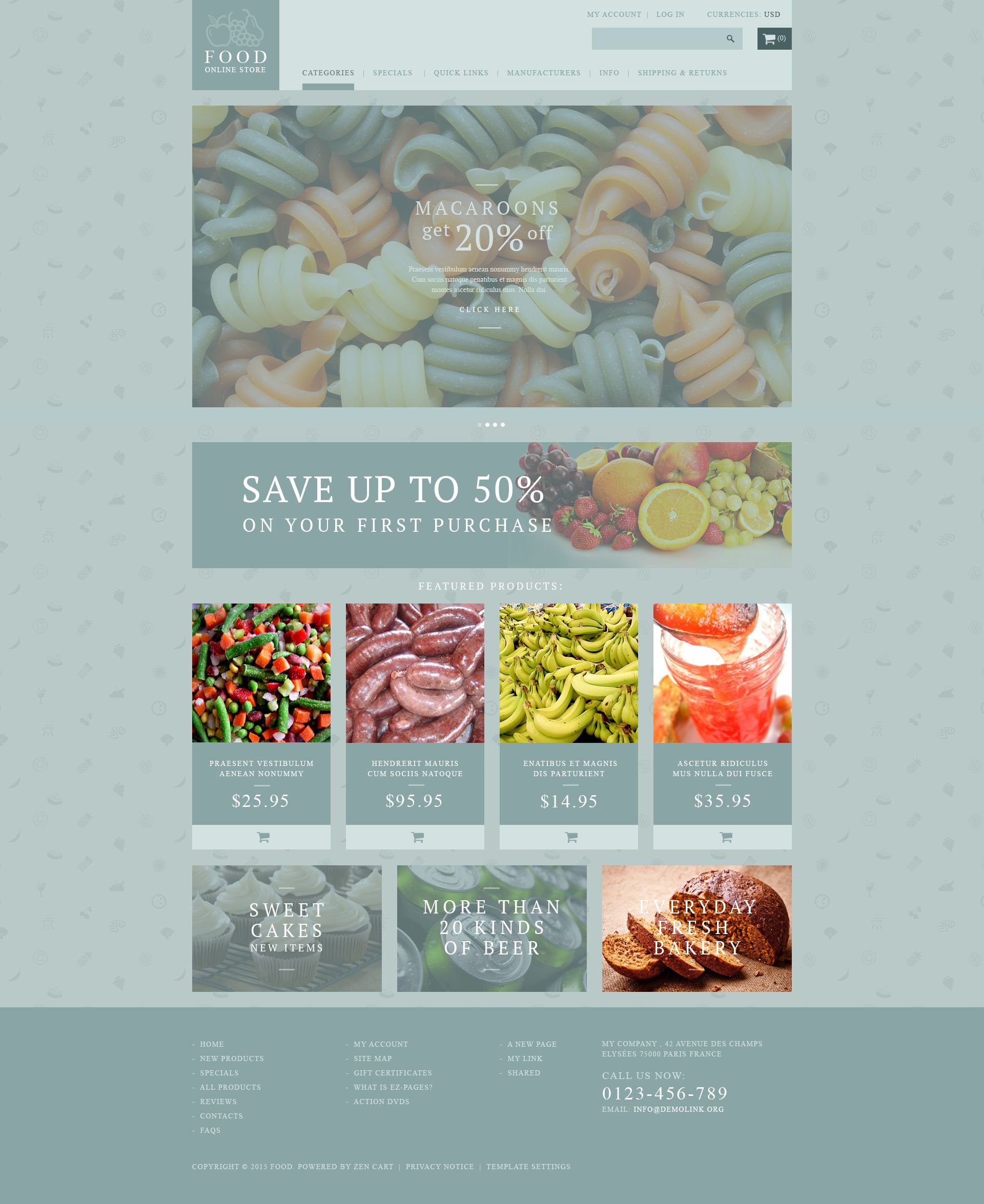 The Food Online Store Zen Cart Design 53886, one of the best ZenCart templates of its kind (food & drink, most popular), also known as food online store ZenCart template, supermarket ZenCart template, fruit ZenCart template, natural company ZenCart template, manufacturer ZenCart template, manufacture ZenCart template, production ZenCart template, fresh ZenCart template, beverage ZenCart template, PSD template ZenCart template, wine ZenCart template, production ZenCart template, cake ZenCart template, cakes ZenCart template, food ZenCart template, feast ZenCart template, tasty ZenCart template, delicious ZenCart template, gourmet ZenCart template, vegetables ZenCart template, fruits and related with food online store, supermarket, fruit, natural company, manufacturer, manufacture, production, fresh, beverage, PSD template, wine, production, cake, cakes, food, feast, tasty, delicious, gourmet, vegetables, fruits, etc.