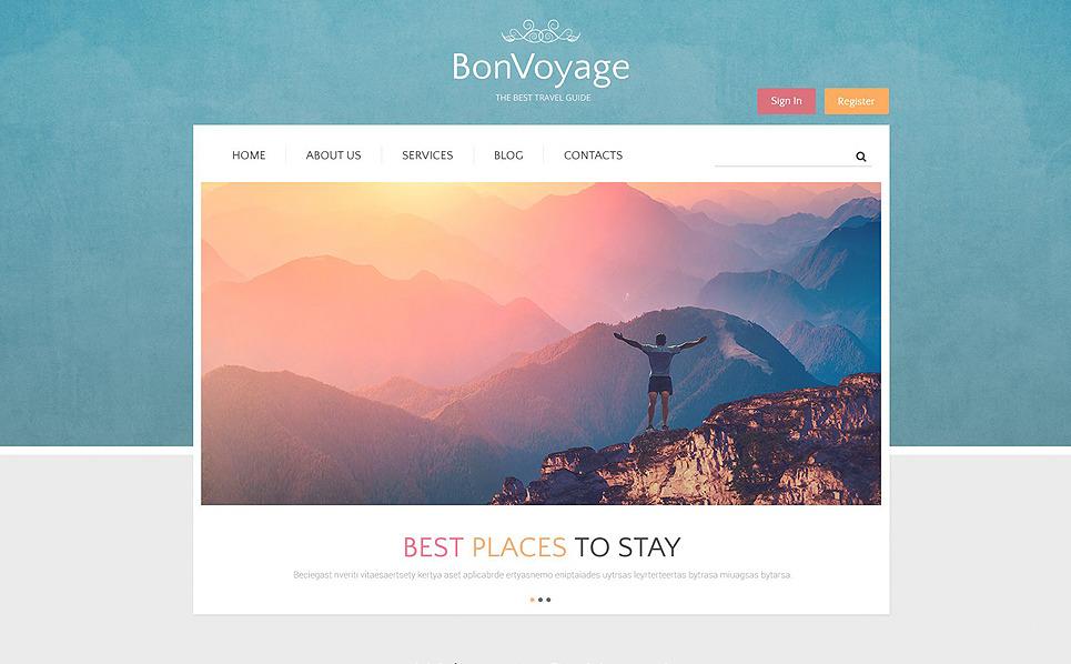 Responsive Seyahat Firması  Drupal Şablonu New Screenshots BIG