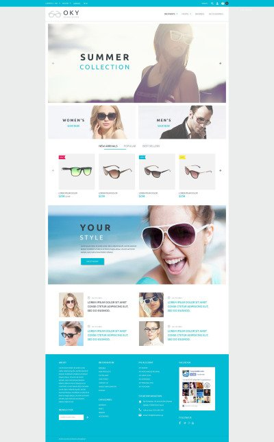 Eye Glasses Responsive PrestaShop шаблон