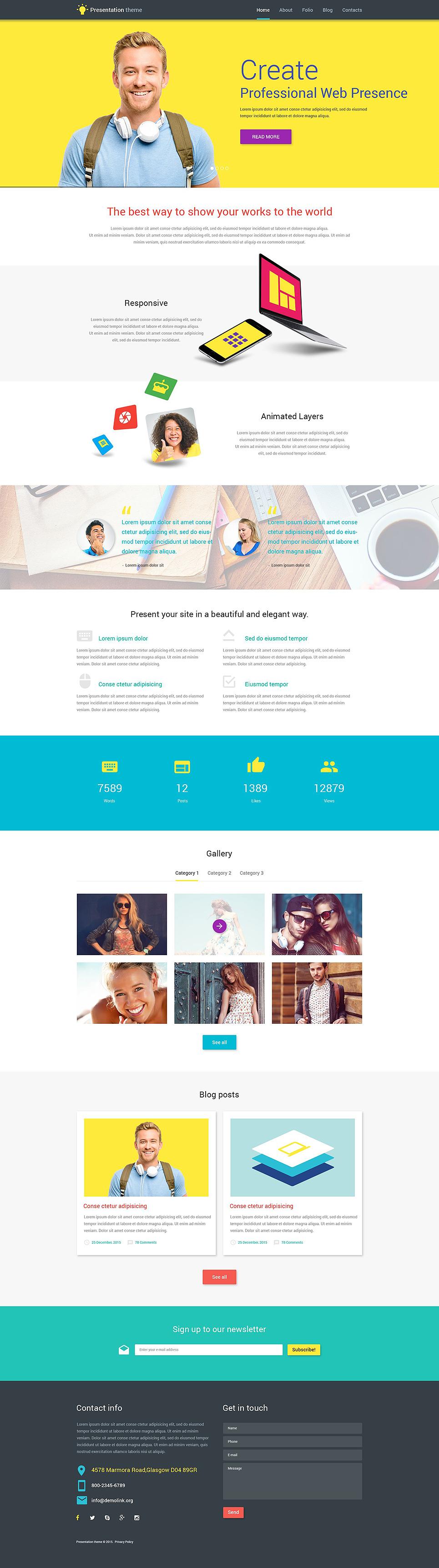 Адаптивный шаблон сайта на тему веб-дизайн #53857