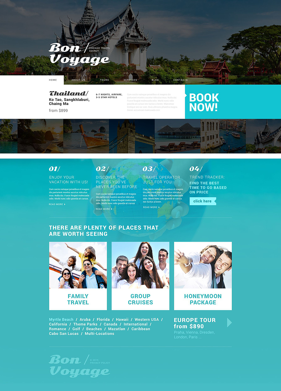 Адаптивный шаблон сайта на тему агентство путешествий #53879