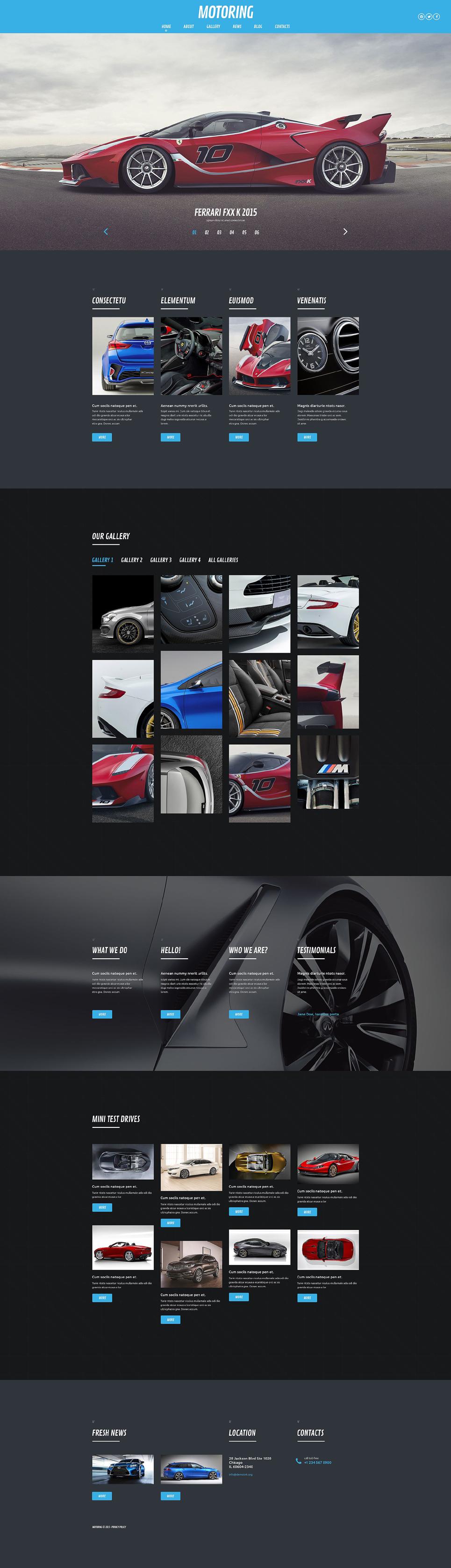 Адаптивный шаблон сайта на тему автомобиль #53882