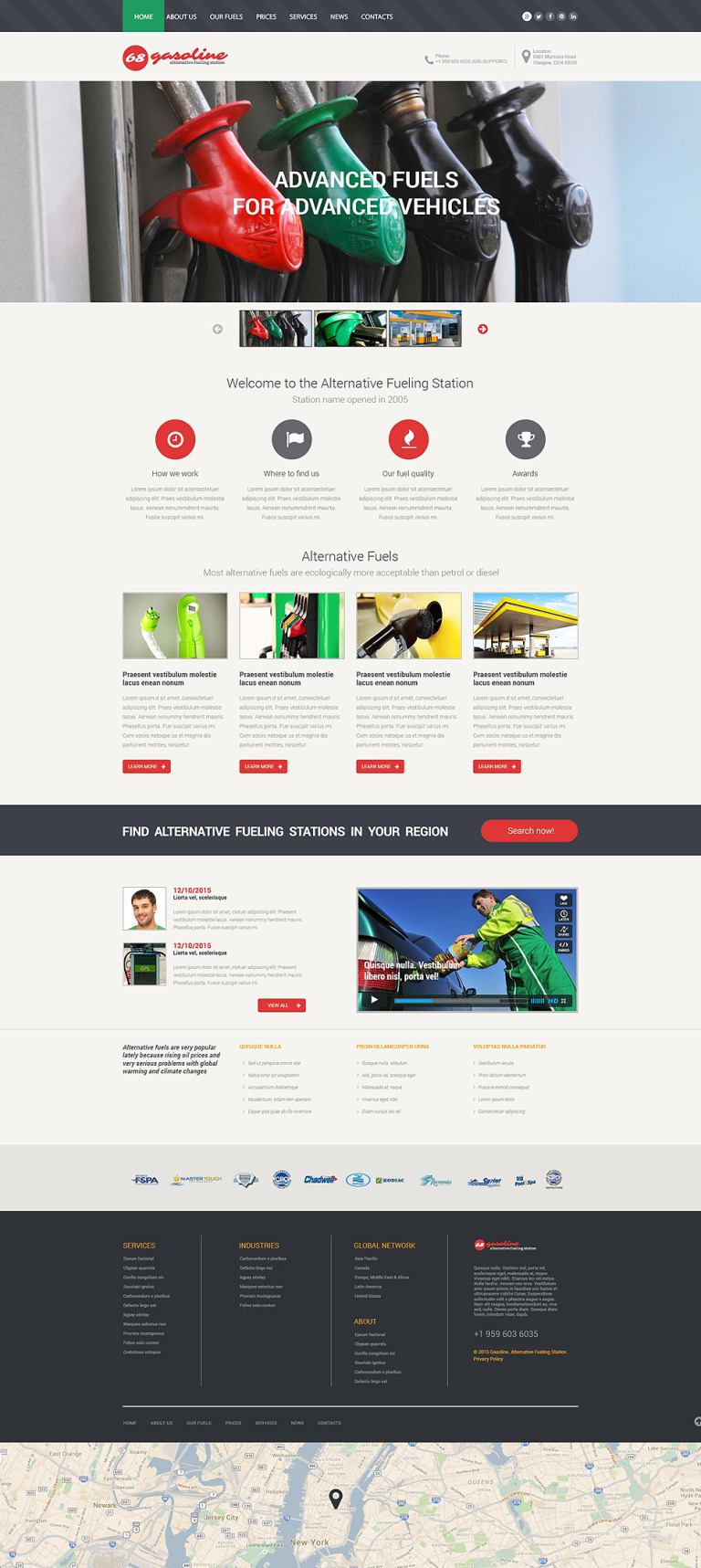 Alternative Fuel Station Website Template New Screenshots BIG