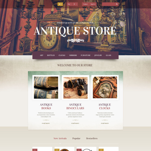 Antique Store - PrestaShop Template based on Bootstrap