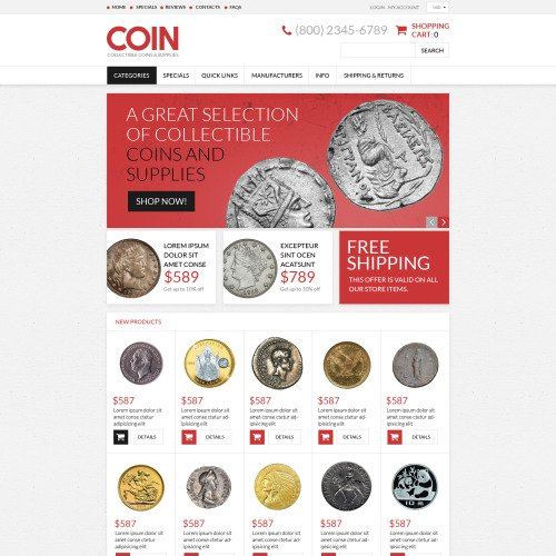 Coin - ZenCart Template based on Bootstrap