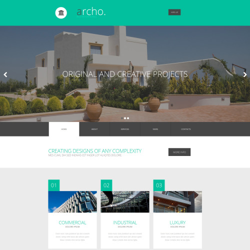 Archo. - MotoCMS 3 Template based on Bootstrap
