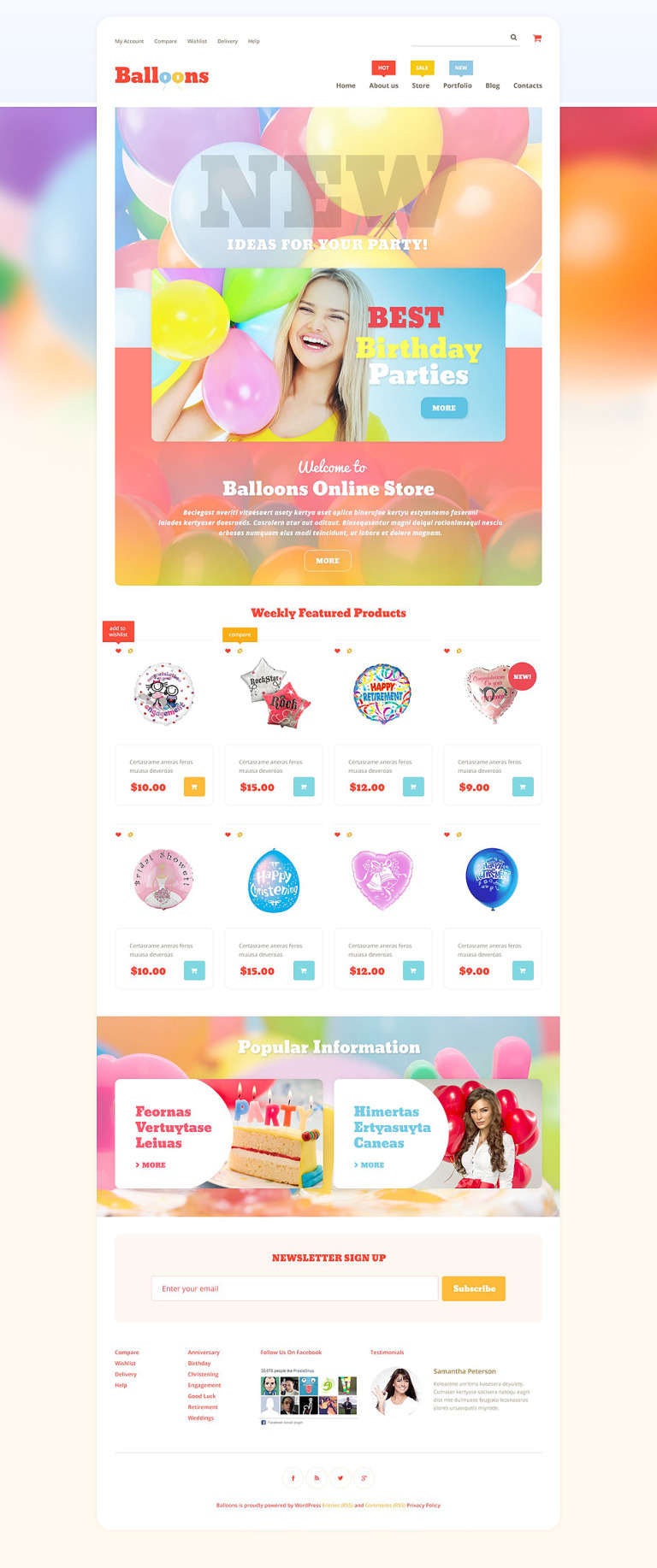 Balloons Store WooCommerce Theme New Screenshots BIG