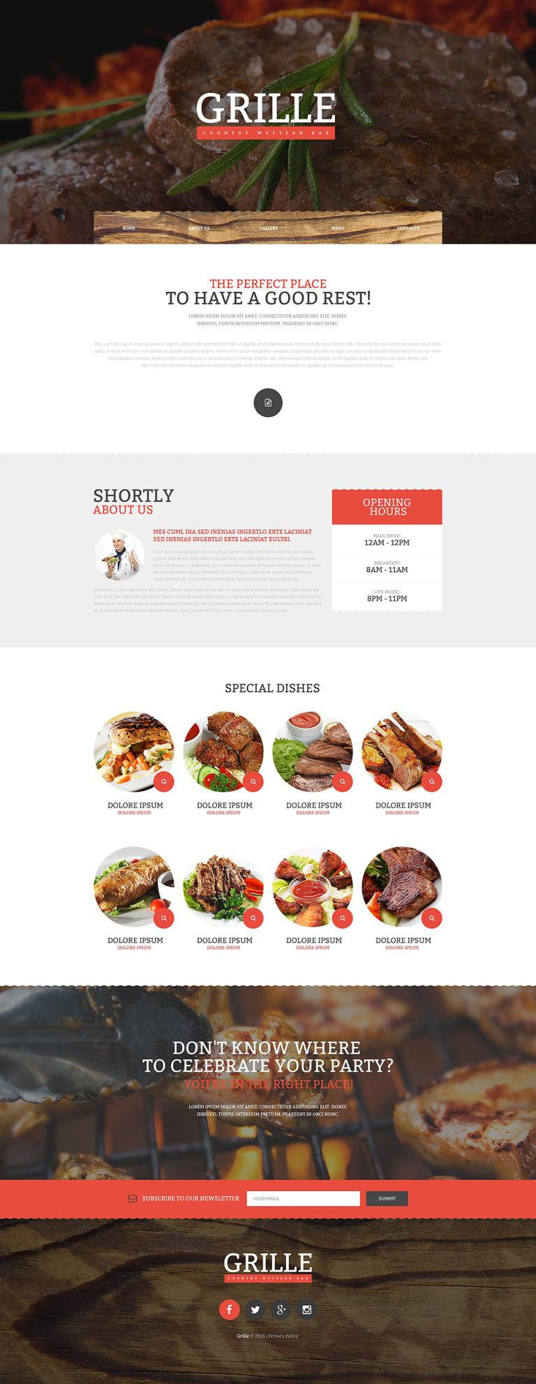 BBQ Restaurant Responsive Website Template New Screenshots BIG