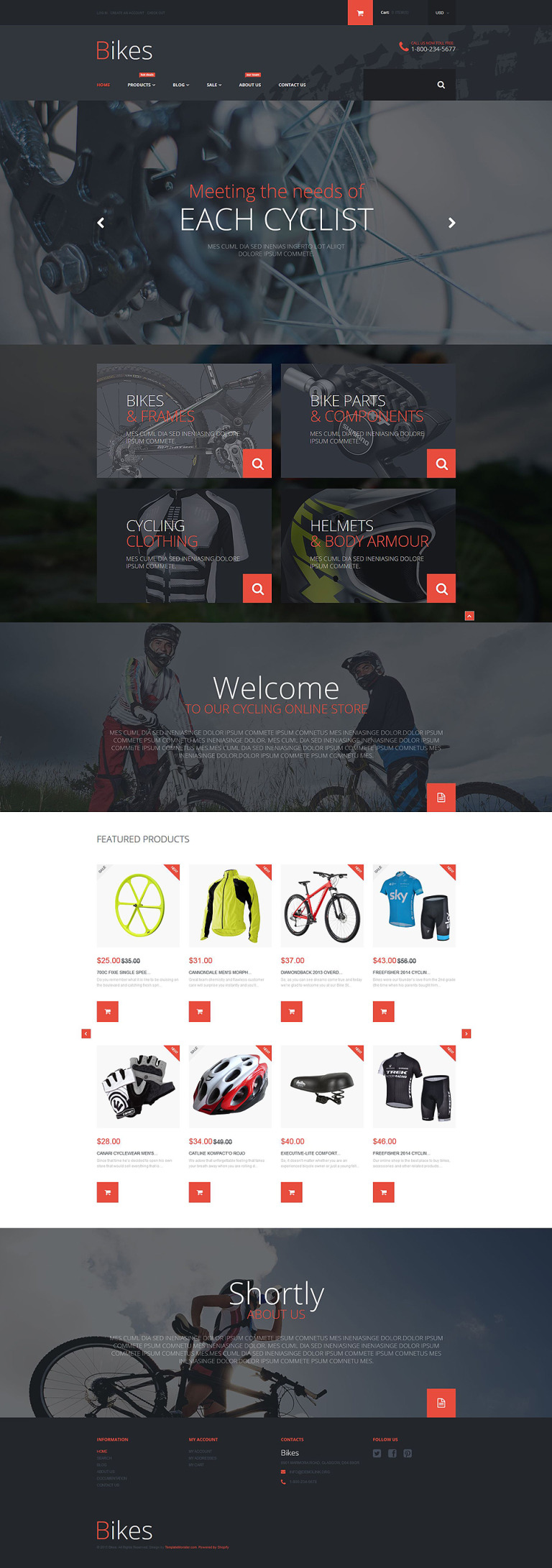 Bike Store Shopify Theme New Screenshots BIG
