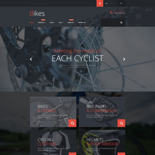 Bikes - Shopify Template based on Bootstrap
