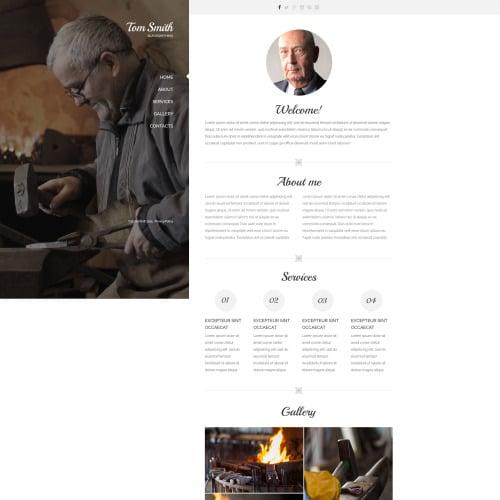 Tom Smith - Responsive Website Template